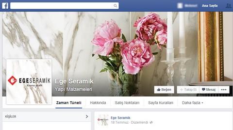 Ege Seramik Facebook'ta