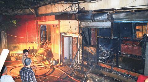 Tarihi Kalede Yangın Korkusu
