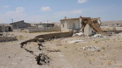 Konya'da Ürküten Manzara