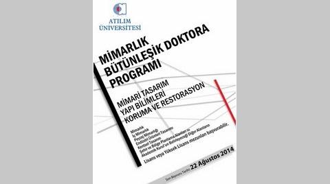 Atılım Üniversitesi'nden Mimarlık Bölümü Bütünleşik Doktora Programı