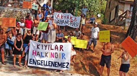 """Akyaka'da """"Kıyılar Halkındır"""" Eylemi!"""