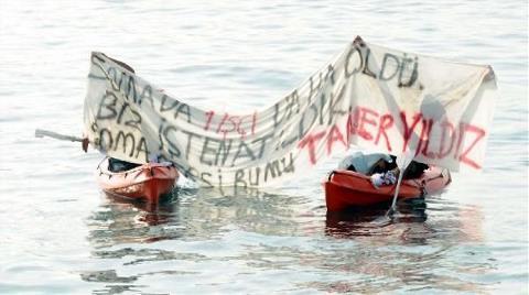 Enerji Toplantısında Karadan ve Denizden Protesto