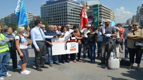 Ankara'nın Suyuna Penguen Dansıyla Protesto