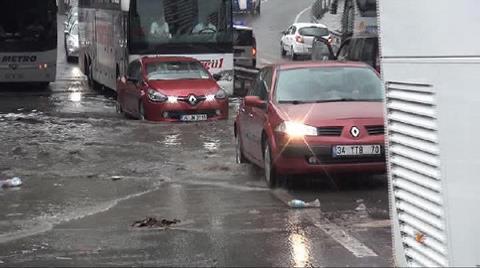 İstanbul Büyük Otogarı'nı Su Bastı