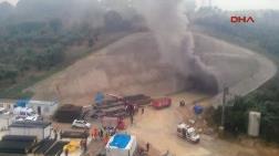 YHT İnşaatındaki Tünelde Yangın