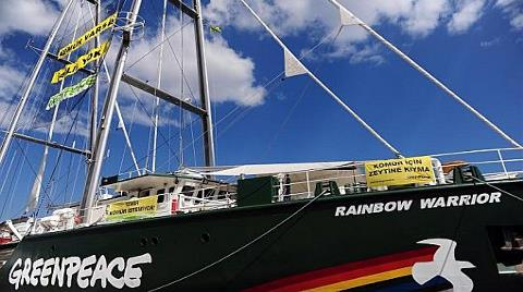 Greenpeace'in Gemisi İzmir ve Soma'da
