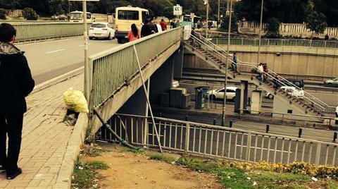 İstanbul'da Korkutan Üst Geçit