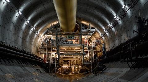 Avrasya Tüneli'nde Bin 180 Metreye Ulaşıldı