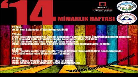 Kayseri'de 2014 Mimarlık Haftası Etkinlikleri
