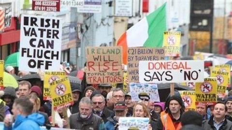İrlanda'da 'Su Satılık Değildir' Eylemi