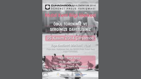 Çuhadaroğlu Alüminyum 2014 Öğrenci Proje Yarışması Ödül Töreni