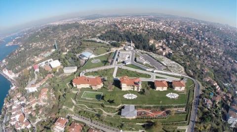 Vahdettin Köşkü'ndeki Restorasyon Çalışmaları Havadan Görüntülendi