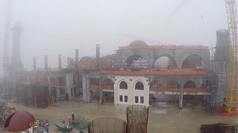 Çamlıca Camisi'nin Kaba İnşaatında Sona Yaklaşıldı