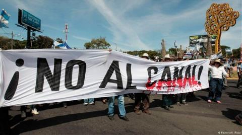 Nikaragua Kanalı'na İsyan