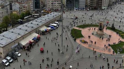 Beton Yığını Taksim'e 'Yeşil Saksıdan Adacıklar'!