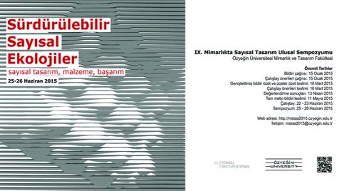 IX. Mimarlıkta Sayısal Tasarım Ulusal Sempozyumu