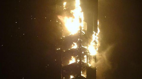 Meşale Kulesi'nde Yangın