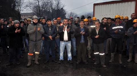 Maaşlarını Alamayan Maden İşçileri Eylem Başlattı