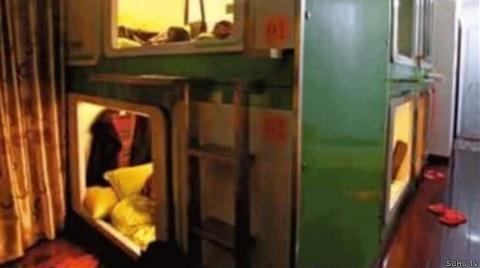 Çin'de Gecelik Kapsül Odalar