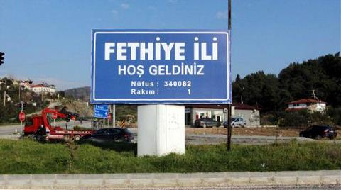 Fethiye'ye Temsili il Tabelası