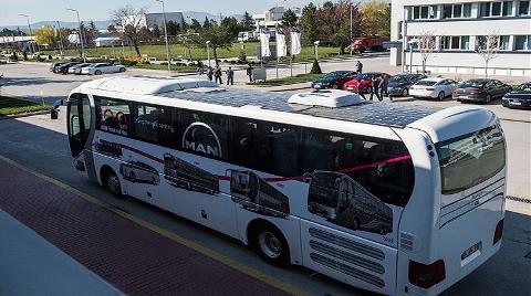 """Türkiye'nin İlk """"Güneş Otobüsü"""" Yollara Çıktı"""
