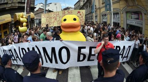 Kentsel Dönüşüme Dev Ördekli Protesto