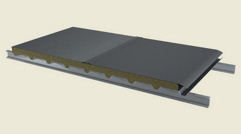 Nova 5 TM - Taşyünü Dolgulu Çift Yüzeyi Metal Membranlı Çatı Paneli