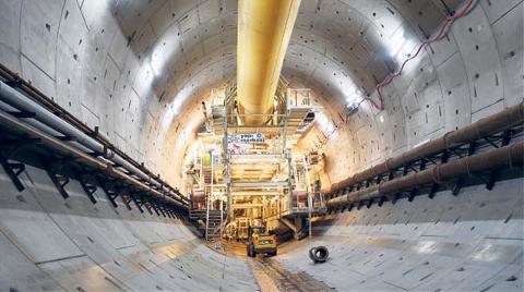 Avrasya Tüneli'nin Yüzde 75'i Tamam