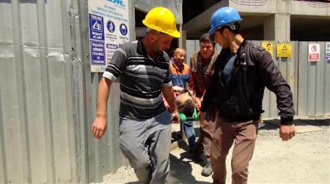 İskeleden Düşen İnşaat İşçisi Yaralandı