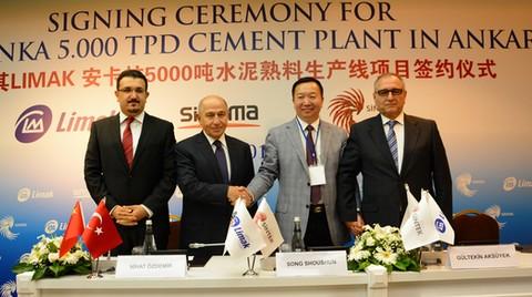 Limak'ın Yeni Çimento Yatırımı için Çinli Sinoma ile Anlaştı