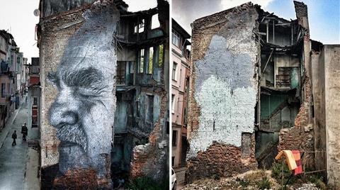 Dünyaca Ünlü Sanatçının Grafitisini Griye Boyadılar!