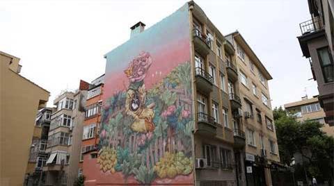 Kadıköy'de Duvarda Sanat Var