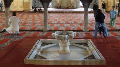 Edirne Valiliği Selimiye'nin Şadırvan Havuzunun Suyunu Kesti
