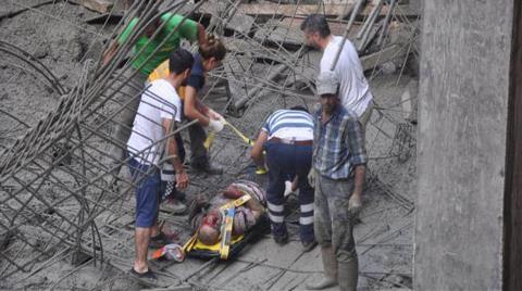 İnşaatın Beton Kalıpları Çöktü: 7 Yaralı