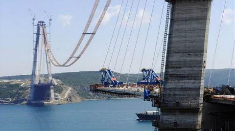 3'üncü Köprünün Yüzde 70'i Tamamlandı