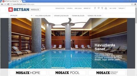 Betsan Mosaix Kurumsal Web Sitesini Yeniledi