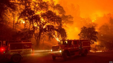 Kaliforniya'da 13 Bin Kişi Tahliye Ediliyor