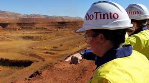 Rio Tinto'nun Net Kârı Yüzde 82 Azaldı