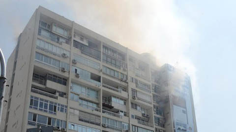 Mecidiyeköy Hukukçular Sitesi'ndeki Yangına Müdahale Edildi