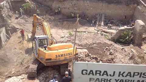"""""""Otopark Alanındaki Tarihi Kalıntılar Parçalandı"""""""
