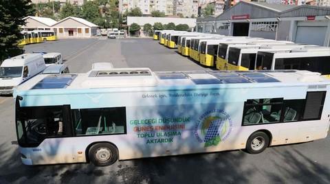İETT'den Güneş Panelli Otobüs