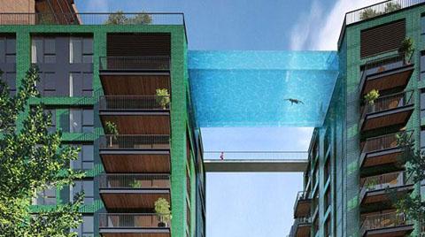 İki Bina Arasında 10'uncu Kata Havuz Yapacak