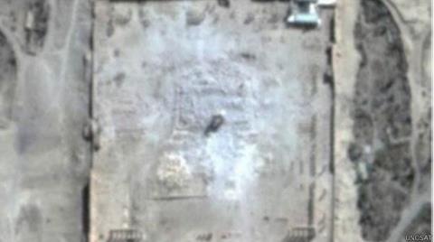 Palmyra'daki Bel Tapınağı da Yıkıldı