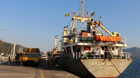 Marmaris'ten İsrail'e Beton Yüzer İskele