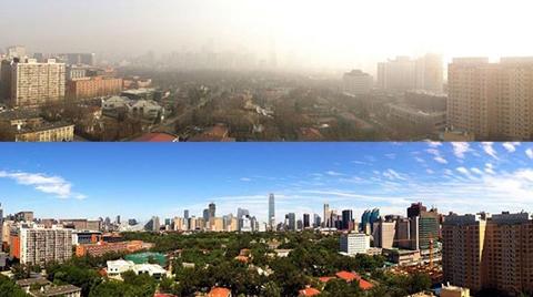 2.5 Milyon Arabanın Yasaklandığı Pekin'de Gökyüzü Ortaya Çıktı