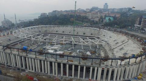 Beşiktaş Stadı'nda Saha Yapım İşlerine Başlanacak