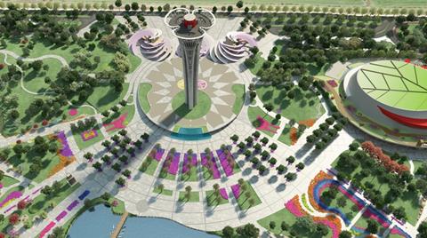 Antalya'daki Expo Kulesi'ni 'Tersten' İnşa Ediyor