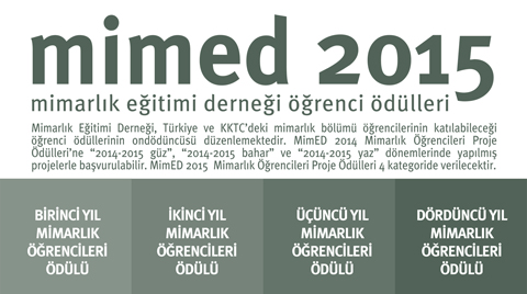 MimED2015 Mimarlık Öğrencileri Proje Ödülleri Yarışması