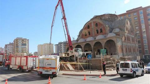 Kahramanmaraş'ta Cami İnşaatı Çöktü