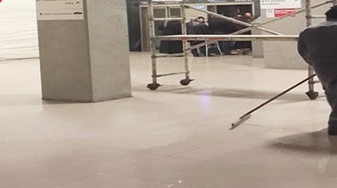 Taksim Metrosunda Su Baskını